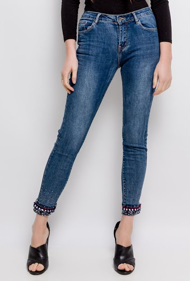 Jeans with strass