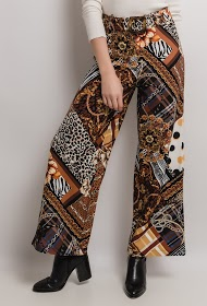 101 IDÉES printed flared pants