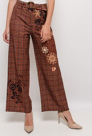 101 IDÉES checked wide trousers