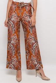 101 IDÉES wide printed trousers