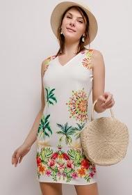 101 IDÉES tropical print dress
