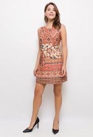 101 IDÉES trykt blonder kjole