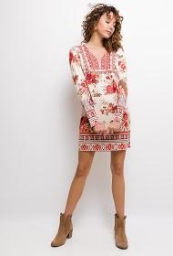 101 IDÉES vestido florido com strass