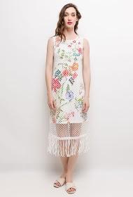 101 IDÉES robe fleurie en filet