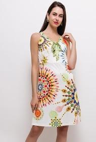 101 IDÉES robe imprimée avec nœud