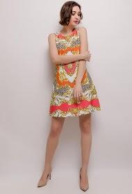 101 IDÉES printed dress with rhinestones