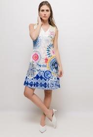 101 IDÉES vestido de renda impressa