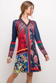 101 IDÉES vestido impresso