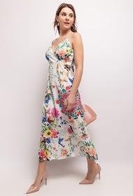 101 IDÉES robe longue à imprimé fleurs