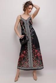 101 IDÉES long printed lace dress