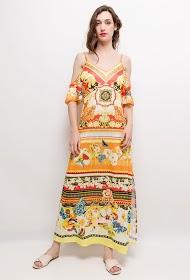 101 IDÉES robe longue imprimée