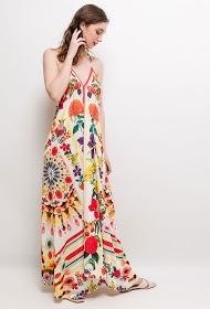 101 IDÉES bedrucktes langes kleid