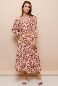 101 IDÉES vestido largo estampado