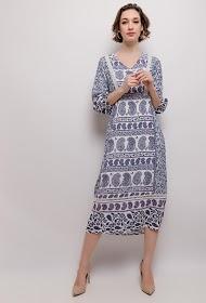 101 IDÉES printed midi dress