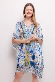 101 IDÉES robe soyeuse imprimée