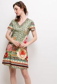 101 IDÉES robe stretch imprimée