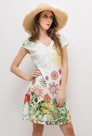 101 IDÉES vestido de renda tropical