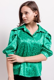 ADILYNN satin shirt