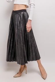 ADILYNN pleated midi skirt