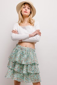 ADILYNN ruffled skirt
