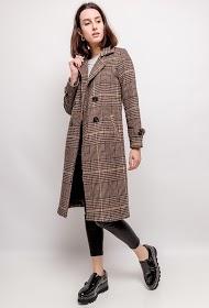 ADILYNN checked coat