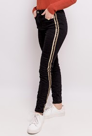 ADILYNN pants with gold side bands
