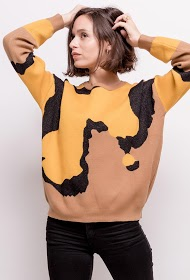 ADILYNN graphic patterned sweater