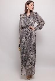 ADILYNN long printed dress