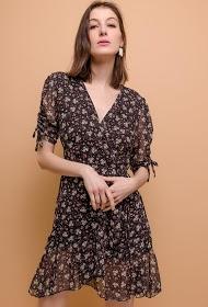 ADILYNN floral wrap dress