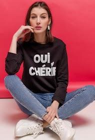 ADILYNN oui cherie sweatshirt