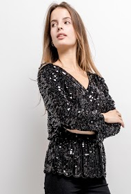 ALINA sequin blouse
