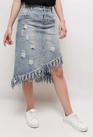ALINA zerrissener jeansrock