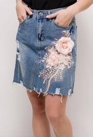 ALINA bestickter jeansrock
