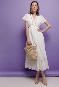 ALINA embroidered and perforated dress