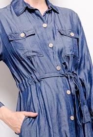 ALINA lyocell hemdkleid