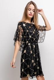 ALINA vestido de lantejoulas