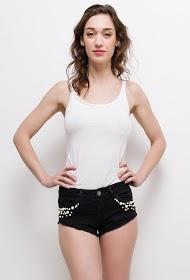 ALINA shorts mit perlen