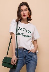 ALINA french love embroidered t-shirt