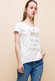 ALINA t-shirt with printed message