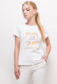ALINA bedrucktes t-shirt mit perlen