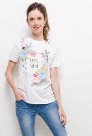 ALINA t-shirt love avec broderie