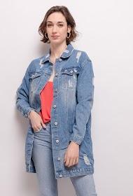 ALINA jaqueta jeans desgastada