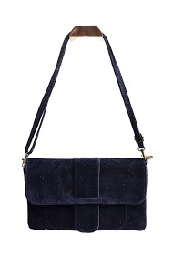 ANOUSHKA (SACS) suede leather clutch