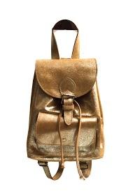 ANOUSHKA (SACS) iridescent leather backpack