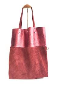 ANOUSHKA (SACS) leather bag bi-material bag