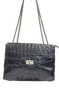 ANOUSHKA (SACS) croc printed leather bag