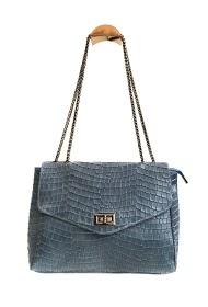 ANOUSHKA (SACS) snake print leather bag