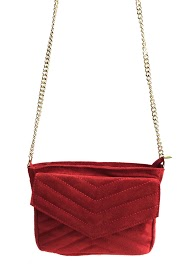 ANOUSHKA (SACS) quilted suede bag