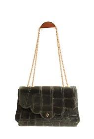 ANOUSHKA (SACS) bolsa de couro estampada croc