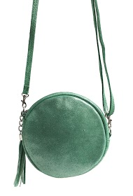 ANOUSHKA (SACS) round bag in powdered suede